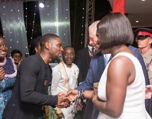 BBNaija; Tobi Bakre meets Prince Charles in Ghana (photos)