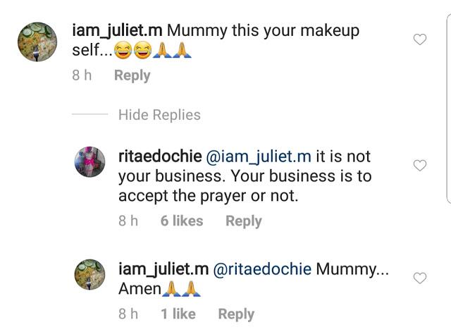 Rita Edochie fires back