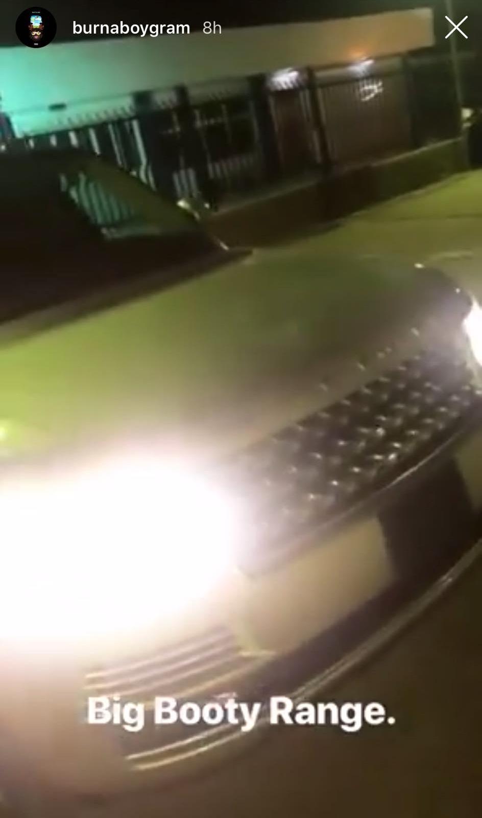 Burna Boy acquires Range Rover