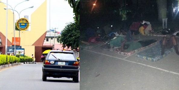 Image result for UNILAG medical students reportedly sleep on the road due to power outage in their hostels