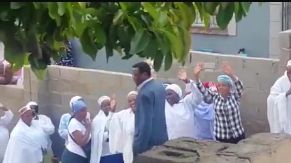 church members kneeling down