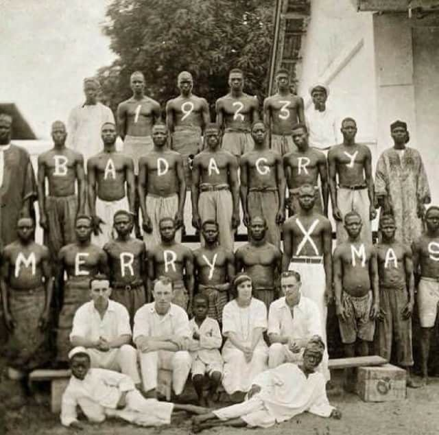 Rare photo of how Christmas in Badagry looked like in 1923