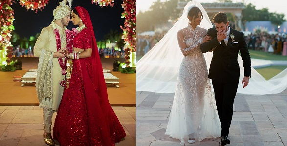 Image result for Official photos from 36-year-old Priyanka Chopra and 26-year-old Nick Jonas' wedding in India. yabaleft
