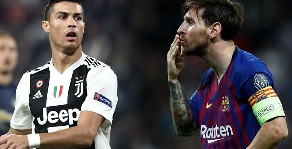 Image result for Ronaldo urges Messi to try something new, tells him to come to Italy