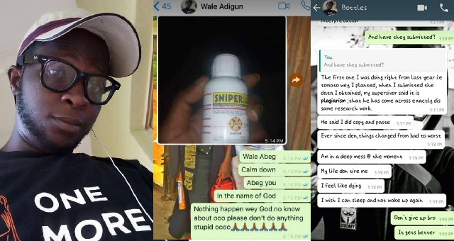 Image result for UNILORIN student allegedly commits suicide with Sniper after he got a 'carry over' in his project again (Suicidal Whatsapp chat revealed)