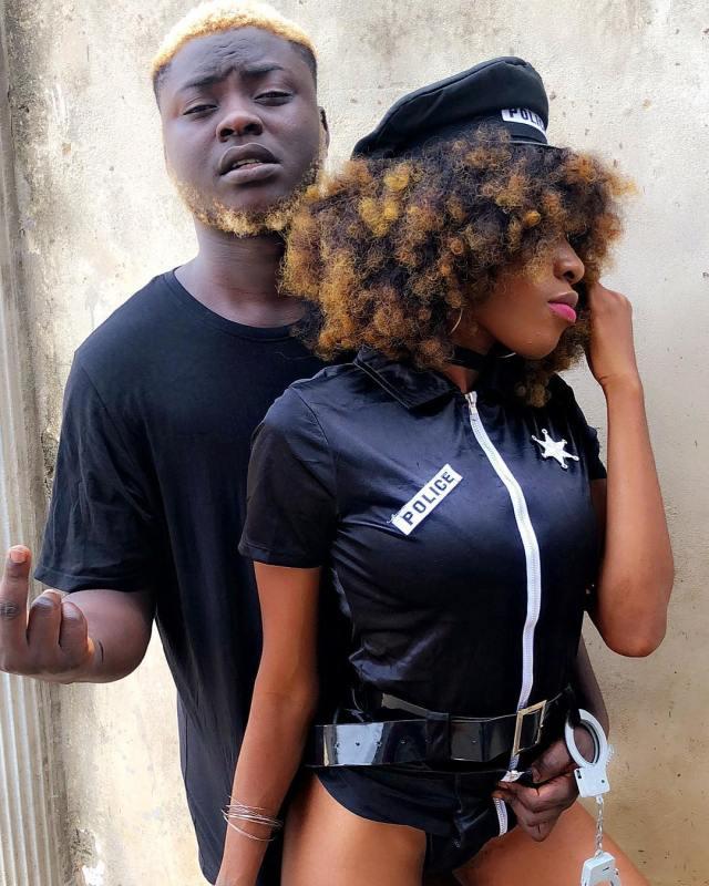 New makeup photos of Nigerian porn star Savage Trap Queen