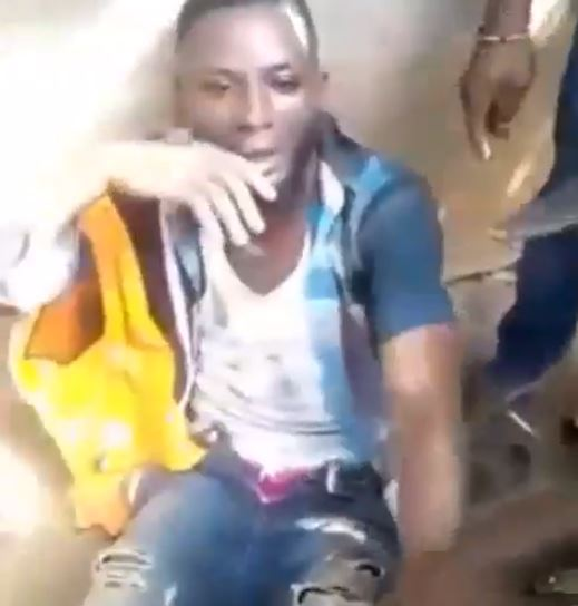 Suspected Yahoo Boy Arrested While Trying To Steal Underwear For Ritual Purposes In Edo (Video)