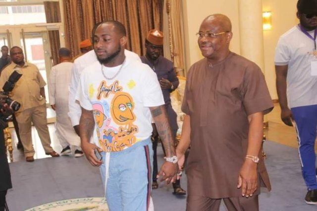 Davido meets Governor Wike at Rivers Government House
