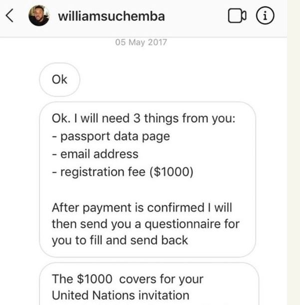 williams uchemba exposed for fraud