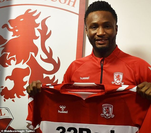 Mikel Obi joins Middlesbrough until end of season