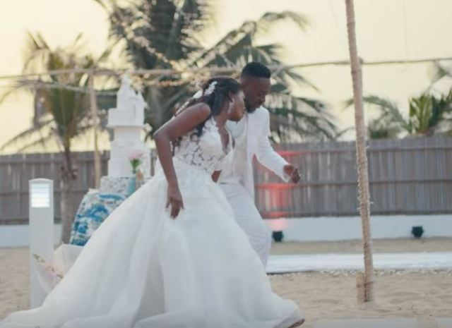 Adekunle Gold releases wedding video with Simi