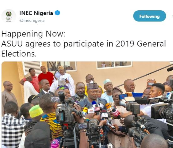 INEC chairman confirms