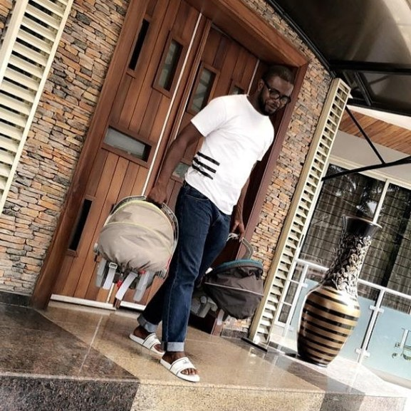 JJCs - Love you my queen – JJC gushes over Funke Akindele as he steps out with their kids