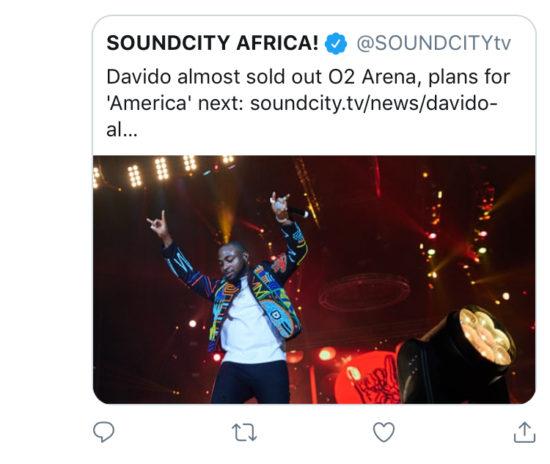 Davido's O2 Arena concert