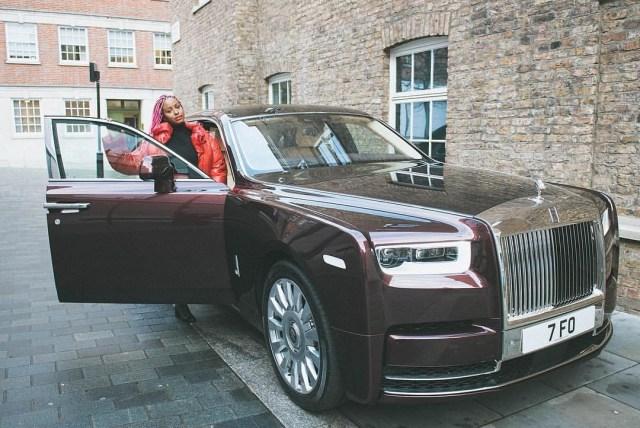 DJ Cuppy acquires Rolls Royce phantom