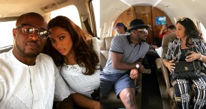 Peter Okoye jets out with his wife