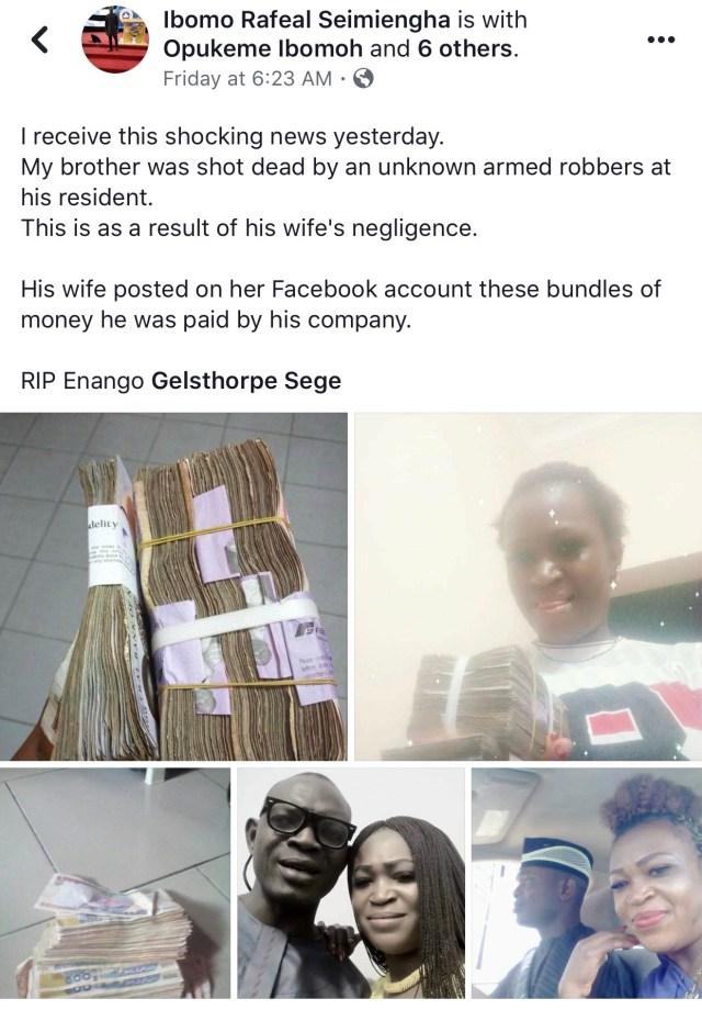 Nigerian man shot dead