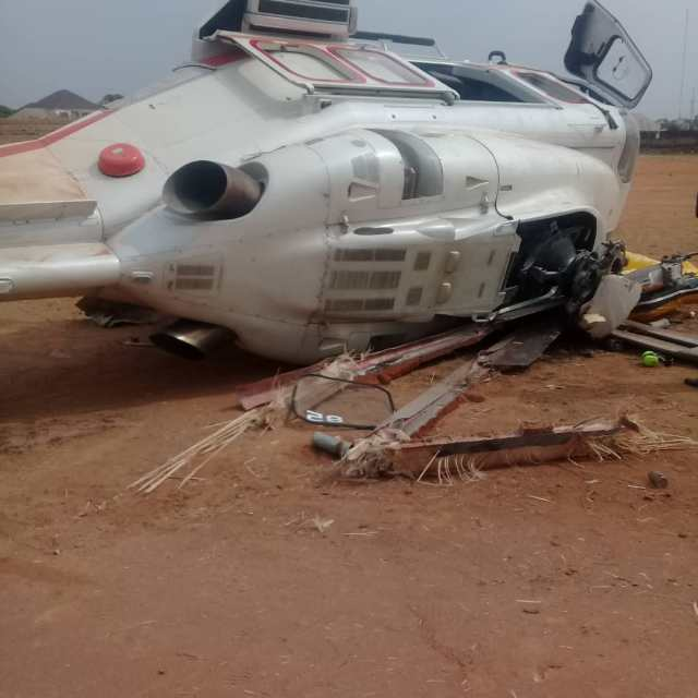Osinbajo Crash 03 - BREAKING: Helicopter carrying Osinbajo crash lands in Kogi state (photos)