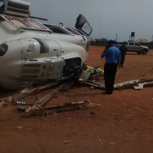 Osinbajo Crash 04 - BREAKING: Helicopter carrying Osinbajo crash lands in Kogi state (photos)