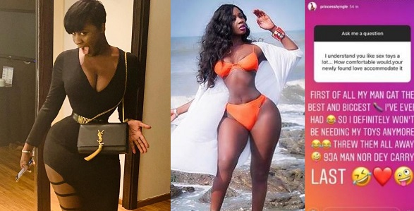 Image result for My new Nigerian guy has the biggest d**k Ive ever had – Ghanaian actress, Princess Shyngle says in delight