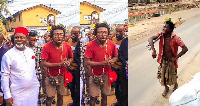 Image result for popular Owerri 'mad man' turned a political commentator, who is known for speaking on the political situation in Imo state, is a graduate.