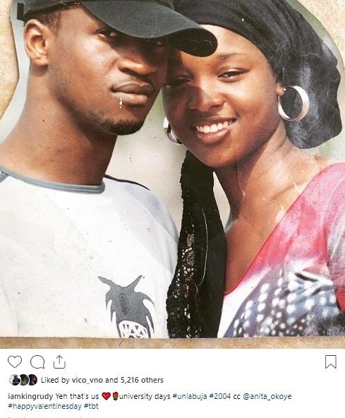 Throwback Photo Of Paul & Anita Okoye Taken In University Of Abuja