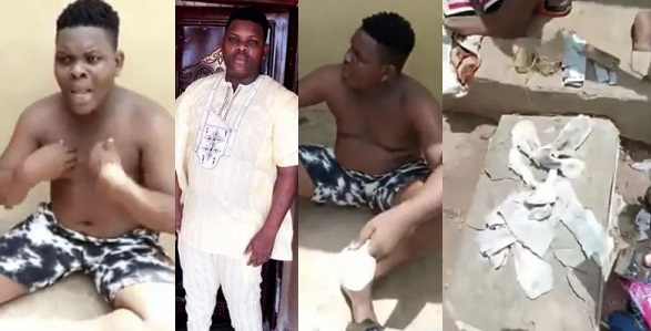 Image result for Abeokuta based DJ nabbed with several used sanitary pads and pants few weeks after buying new car (Photos)