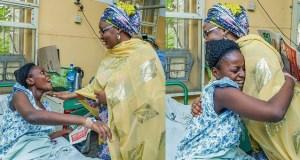 Aisha Buhari visits survivors