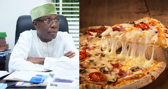 Image result for 'Some Nigerians order pizza from London to Nigeria '- Minister of Agriculture, Audu Ogbeh says.