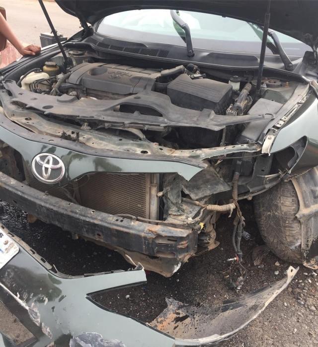 Actress, Abiola Adebayo survives terrible car crash (Photos) - {Od9ja Styles} - Actress, Abiola Adebayo survives terrible car crash (Photos)