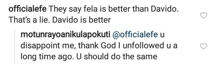 Fela's daughter