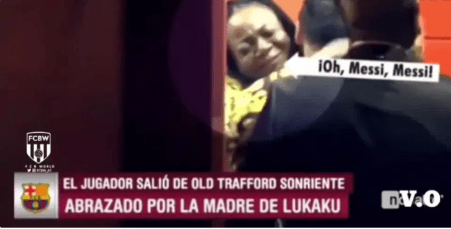 Lukaku's mom embraces Messi