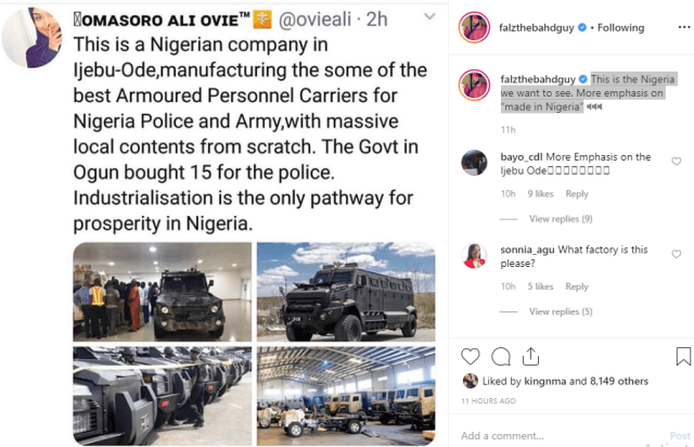 Nigerian company manufacturing armoured vehicles