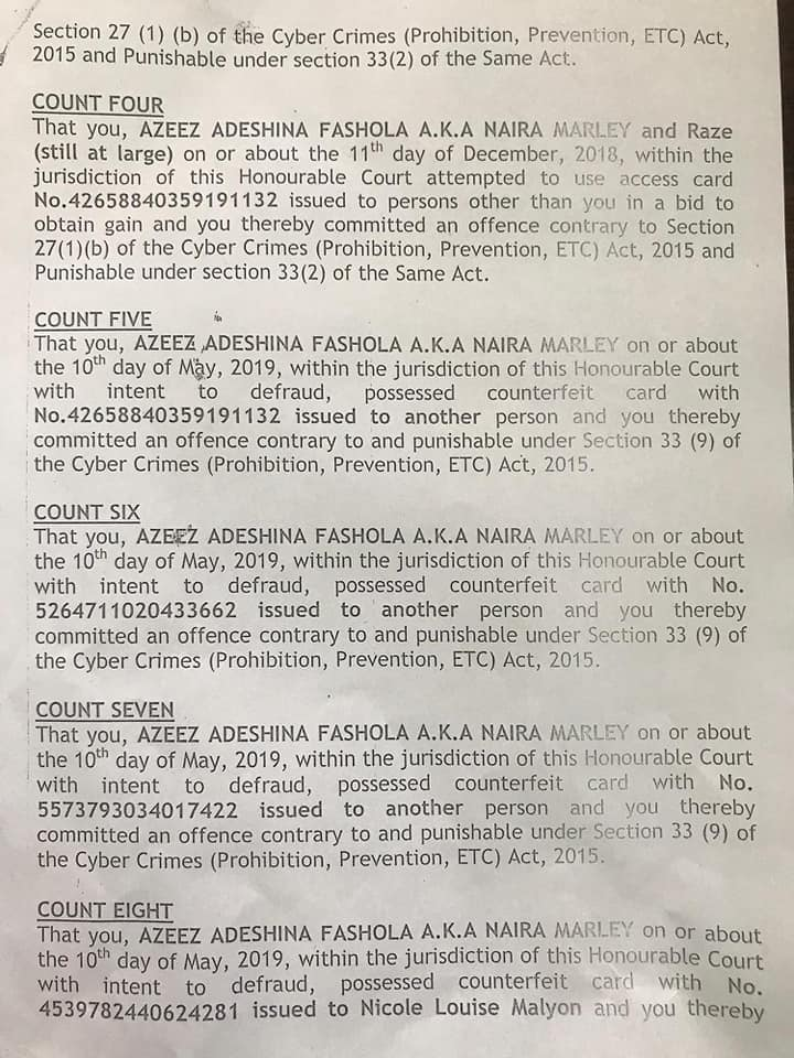 Naira Marley personally signs and collects his 'charge sheet' ahead of his arraignment in court on Monday. 4