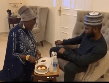 (VIDEO) Relationship Therapist Jaruma Kneels Down To Serve Her Husband Food