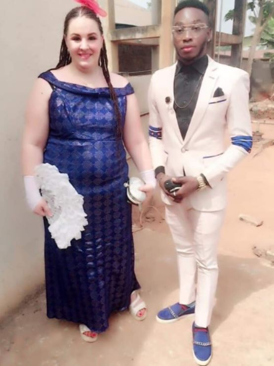 Nigerian guy excited as his white fiancée is set to pay his groom price in Abia State