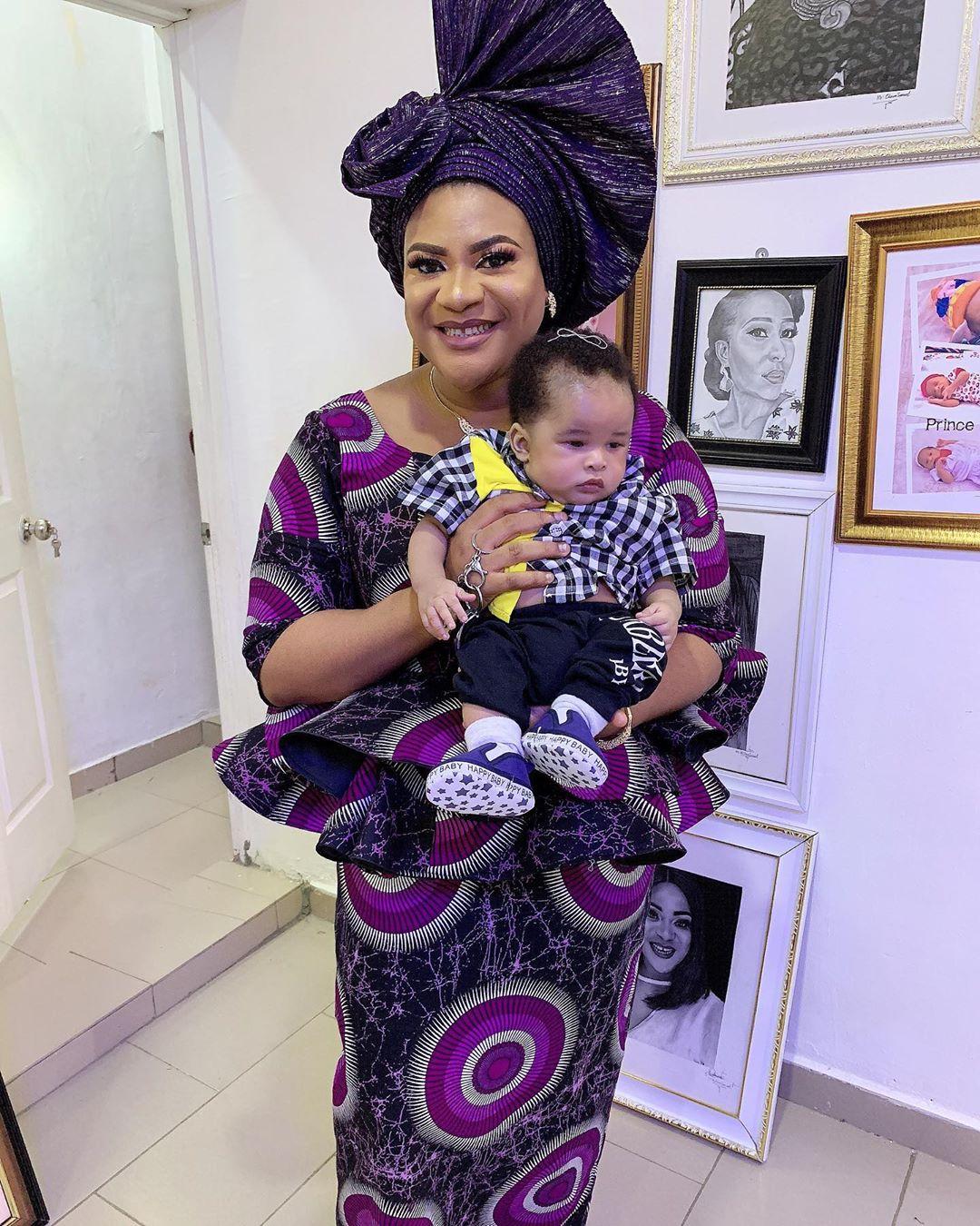 Actress Nkechi Blessing dedicates son