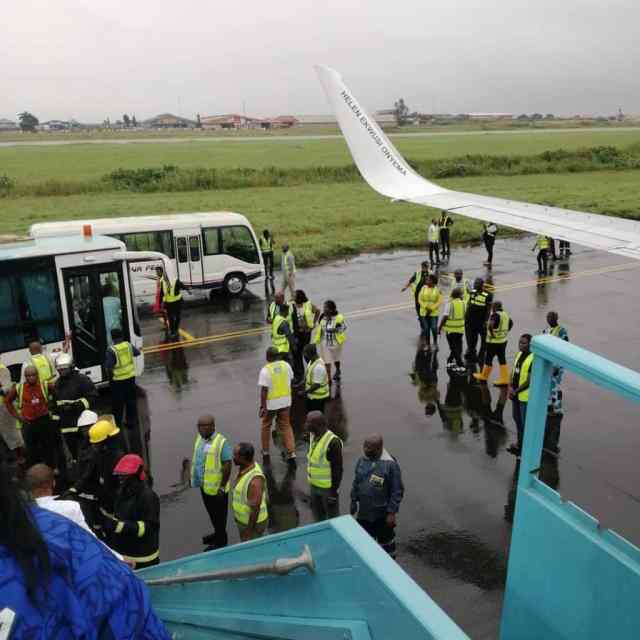 Panic as plane crash-lands in Lagos airport