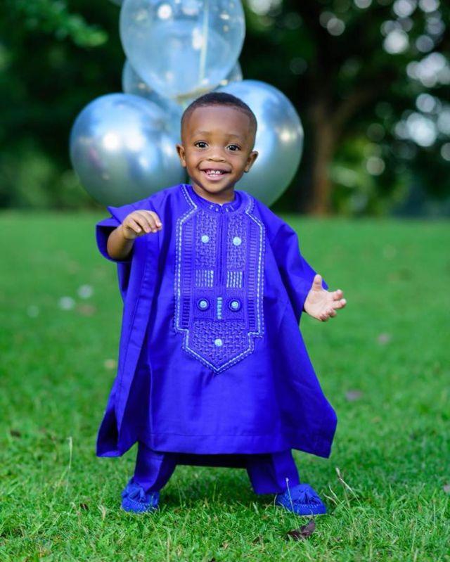Ahmed Musa celebrates son