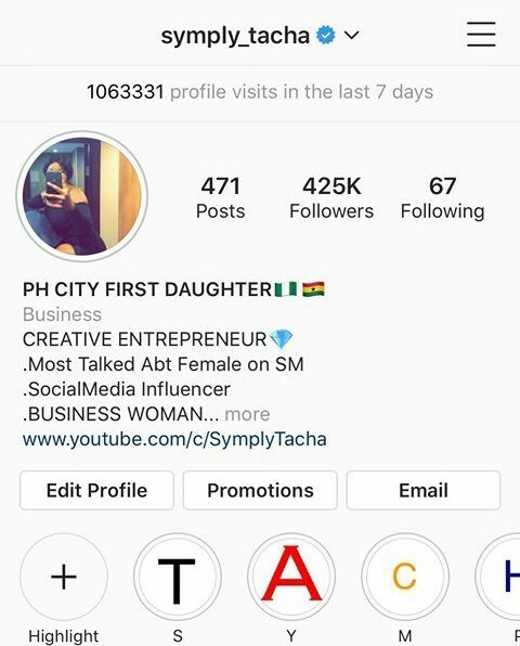 aece9418aee79 Tacha Gets Verified By Instagram - 360NG