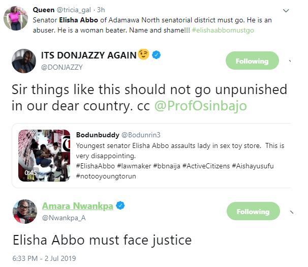 MI Abaga condemn Senator Elisha Abbo for physically assaulting lady in a sex shop