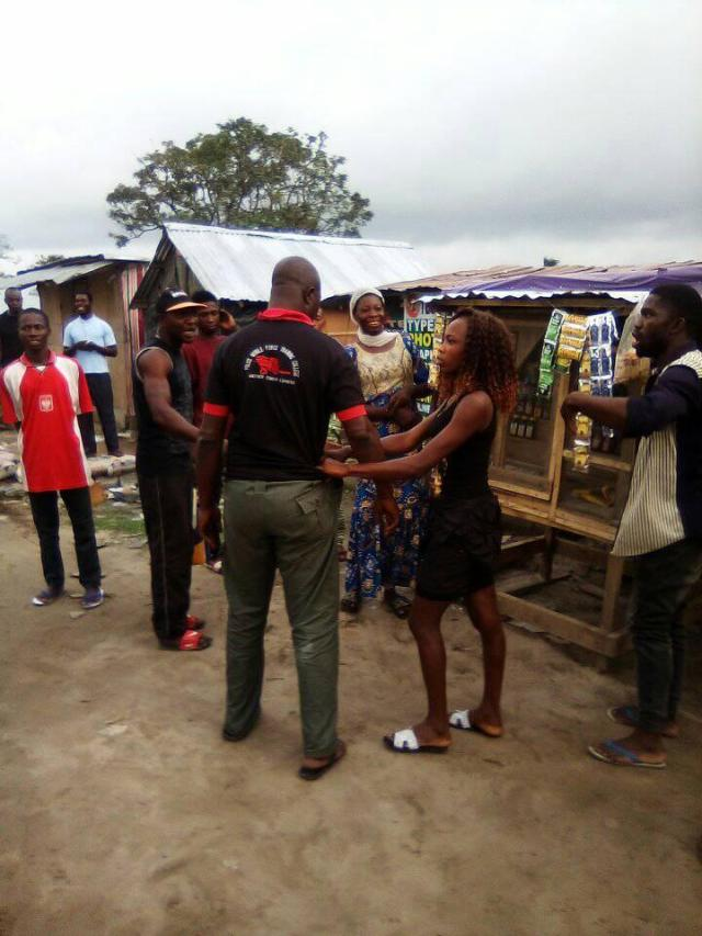 Lagos policeman disgraced