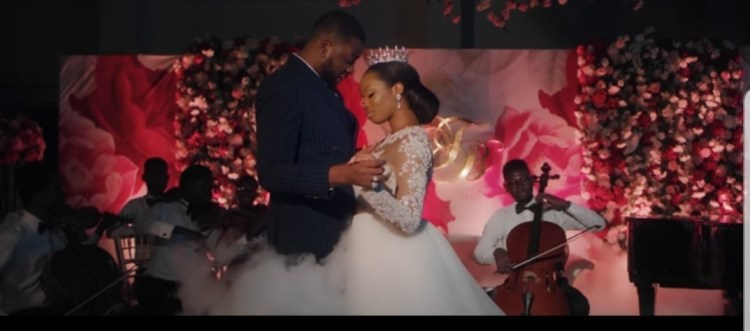 Bambam & Teddy-A holds White Wedding in Johnny Drille's new music video 2