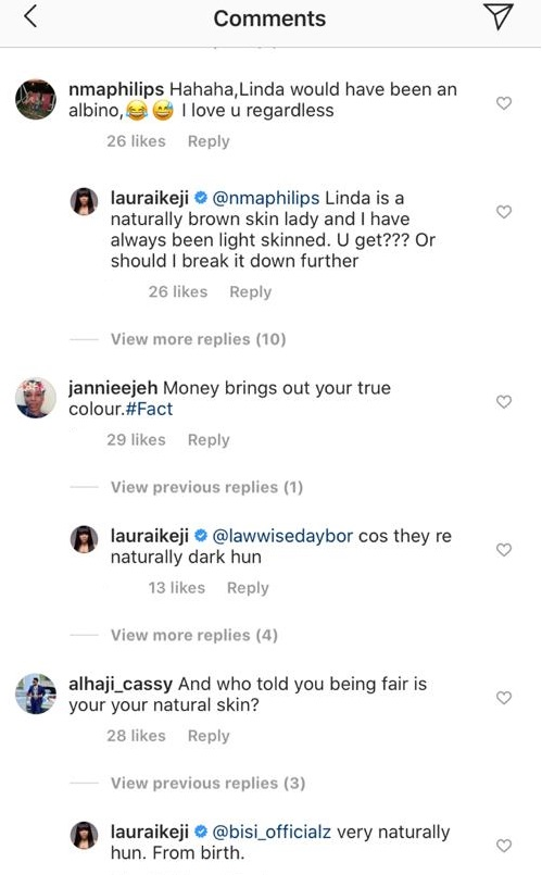 A darker looking Laura Ikeji photo surfaces online after she swore she's never bleached in her life 1