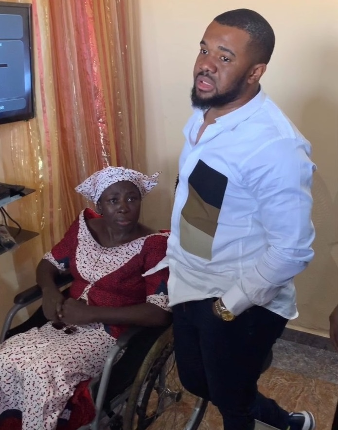 Williams Uchemba rents apartment for crippled woman and her 7 children