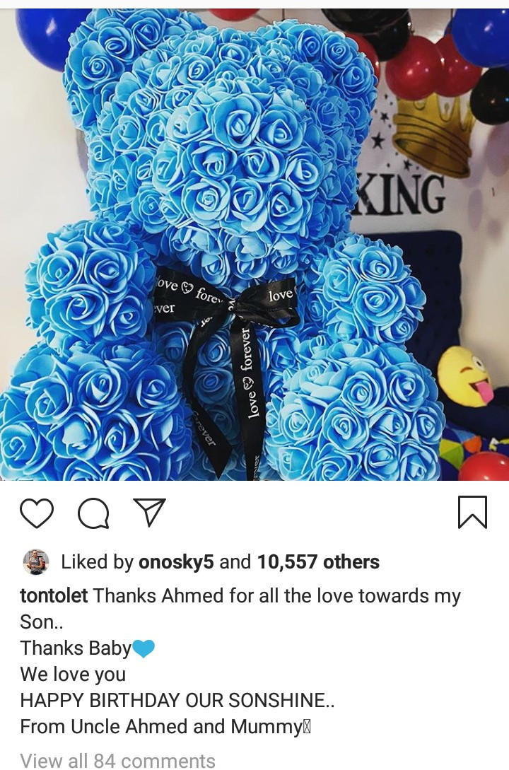 """""""Blood ain't family"""" – Tonto Dikeh thanks her """"big baby"""" for being there on her son's birthday 5"""