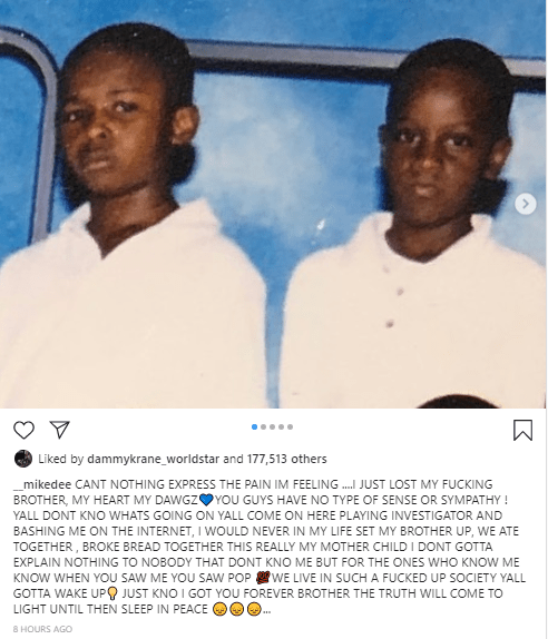 Pop Smoke's brother, Mike Dee speaks out following his murder, denies setting him up to be killed
