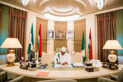 Covid-19: Presidency fumigates President Buhari's office, others