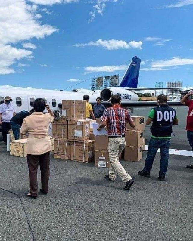 airplane carrying Coronavirus materials