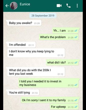 """Working class lady blows hot on her unemployed boyfriend after discovering that he """"squandered"""" her money (Screenshots) 1"""